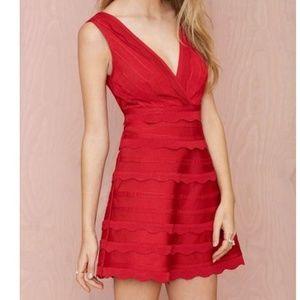 Nasty Gal  XS Secret Love Skater Dress Red